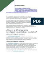 Diferencia entre investigación cuantitativa y cualitativa