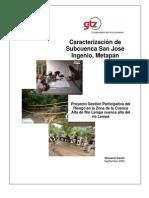 Caracterización Subcuenca San José Ingenio