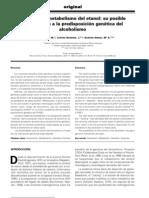 ENzimas del metabolismo del etanol