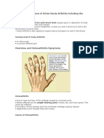 Signs and Symptoms of ACute Gouty Arthritis including the Treatment