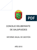 Informe Anual HCD Salsipuedes 2010