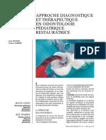 approche diagnostique et thérapeutique en odontologie pédiatrique ...