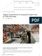 Jaguar Land Rover to suspend output due to chip shortage - BBC News
