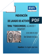prevención lavado de activos fideicomisos