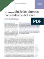 evaluación sindrome de down