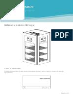 1509 076 000US BR1 Manual Para Geladeira Modelo 360 Style 110V