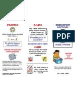 Bridgeport Connecticut Recyclables Pamphlet