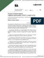 10-03-11 Propone el Senado eliminar regímenes preferenciales, el IETU y reducir el IVA