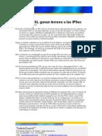 Las VPN SSL ganan terreno a las IPSec