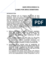 GUIDELINES ON DONATIONS