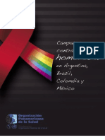 Campañas contra la homofobia en México, Brasil, Argentina y Colombia