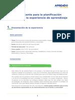Guia de Planificacion Curricular 5to Experiencia de Aprendizaje 2 Secundaria AeC Ccesa007