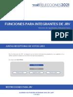 Funciones de JRV