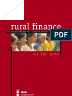 rural finance for the poor, sustainable institutions
