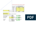 Aluminium profile extrusion calculations matrix