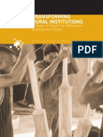 tranforming rural institutions