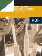 tranforming rural institutions