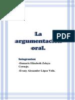 La argumentación oral del Lenguaje