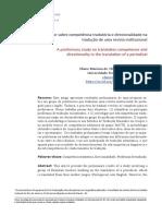 Estudo Preliminar Sobre Competência Tradutória e Direcionalidade Na