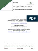 Impact  de la Relation  Banque - Entreprise  sur  le Risque  de Défaillance