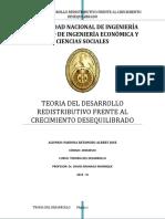 TEORIA DEL DESARROLLO REDISTRIBUTIVO FRENTE AL CRECIMIENTO DESEQUILIBRADO