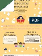 PPT  comprensión lectora e INF. implícita 3°