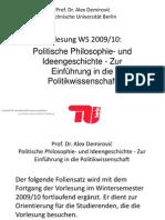 Demirovic - Vorlesung Politische Theorie WiSe 2009 Folien