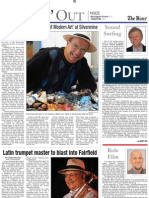 """""""Latin Trumpet Master Blasts into Fairfield"""" - Arturo Sandoval profile for the Norwalk Hour, March 2008, p 1 of 2"""