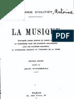 D'Olivet,La musique