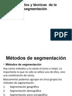 Métodos y técnicas  de la segmentación