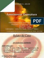 Amniorrexe prematura
