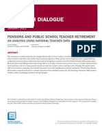 Pensions and Public School Teacher Retirement