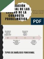 EVALUACIÓN FUNCIONAL DE LAS CAUSAS DE LA CONDUCTA cap 22