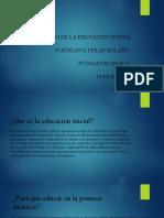 SENTIDO DE LA EDUCACION INICIAL Yoicelena