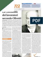 """Olivetti su """"Il Riformista"""""""