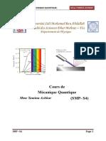 Cours de Mecanique Quantique SMP S4
