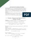 Dominio y Rango de Funciones de Vv