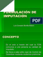 FORMULACIÓN DE IMPUTACIÓN