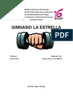 Estudio Técnico de un Gimnasio Formulación y Evaluación de Proyectos