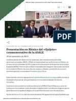 Presentación en México del «Quijote» conmemorativo de la ASALE _ Noticia _ Real Academia Española