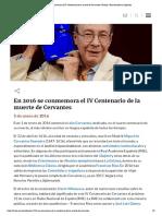 En 2016 se conmemora el IV Centenario de la muerte de Cervantes _ Noticia _ Real Academia Española
