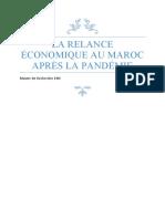 la relance économique au Maroc après la pandémie