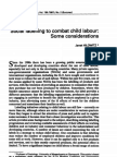 Social labelling to combat child labour some considerations