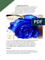 Significado de la flor Azul