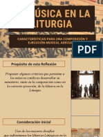 LA MUSICA EN LA LITURGIA -Composicon