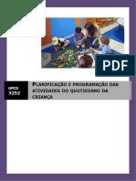 Manual Ufcd 3252 Planificação e Programação Das Actividades Do Quotidiano Da Criança