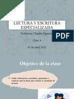 2021Escritura y lectura especializada 3