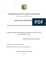 ANALISIS NARRATOLOGICO E INTERTEXTUAL DE LA OBRA EL CAPERUCITO AZUL