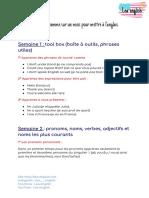 Votre Programme Sur Un Mois Pour Apprendre Langlais _ 2