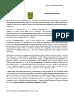 PALABRAS DE REFLEXION DEL DOCENTE